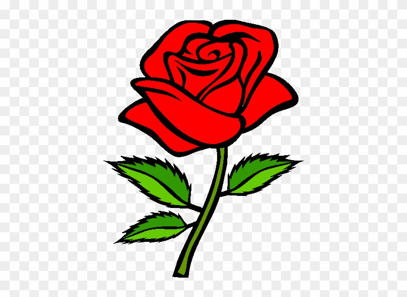 Red Rose Drawing Simple Clipart #5182348