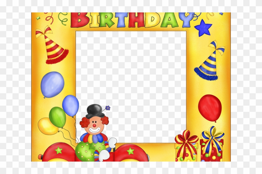 Happy Birthday Clipart Picture Frame - 1st Happy Birthday Photo Frame - Png Download #5182585
