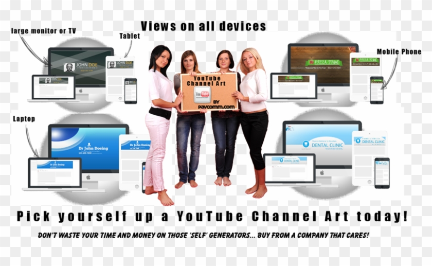 Youtube Channel Art Views On All Devices - Online Advertising Clipart #5189240