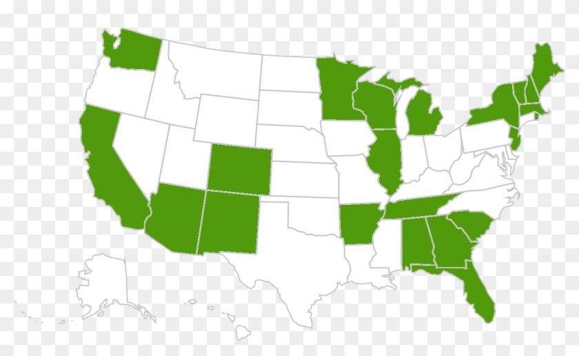 Alabama, Arizona, Arkansas, California, Colorado, Florida, - Map Of The United States Clipart #5189420