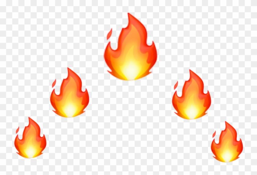#fire #fireemoji #red #orange #emoji #crown #headcrown - Fire Emoji Crown Png Clipart #5189428
