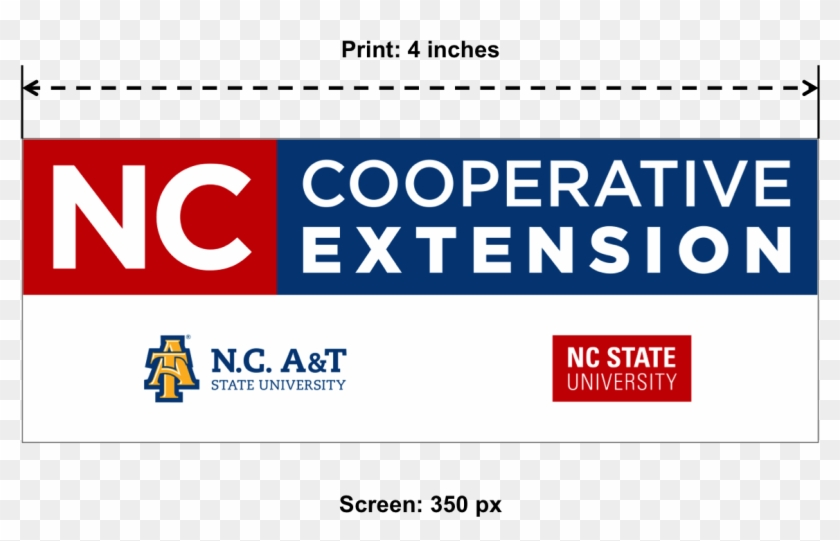 Cooperative Extension Logo Sizing Graphic-stacked - North Carolina A&t State University Clipart #5190461