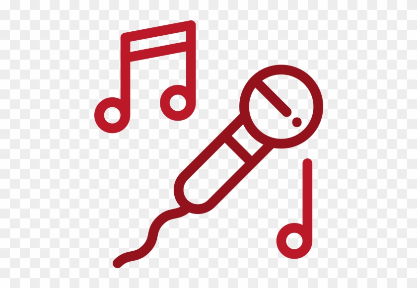 #1 - Microphone Icon Line Art Clipart #5195963