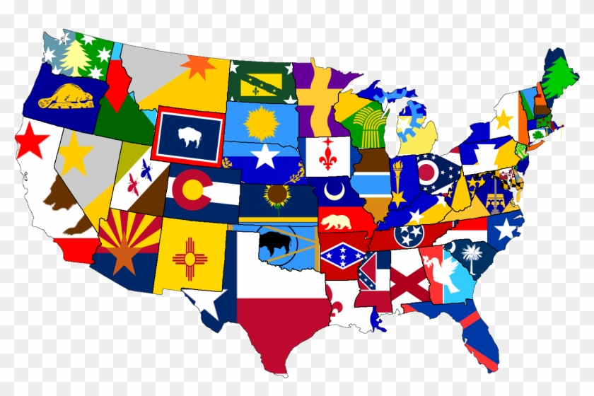 Https - //i - Redd - It/p6p8tqf1p5u01 - Usa State Flag Map Clipart #5199172