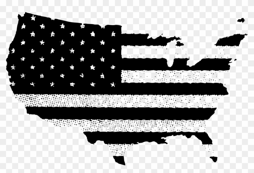 Flag Of The United States Vector Map Usa Flag In Country Png Clipart 5199553 Pikpng