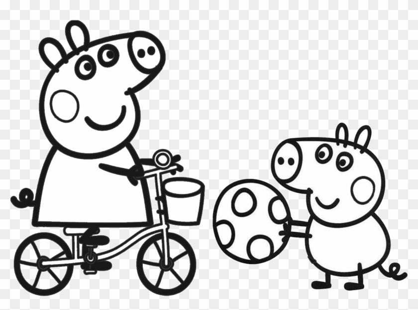 Peppa Pig Para Colorir E Pintar Coloriage De Peppa Pig Et Ses