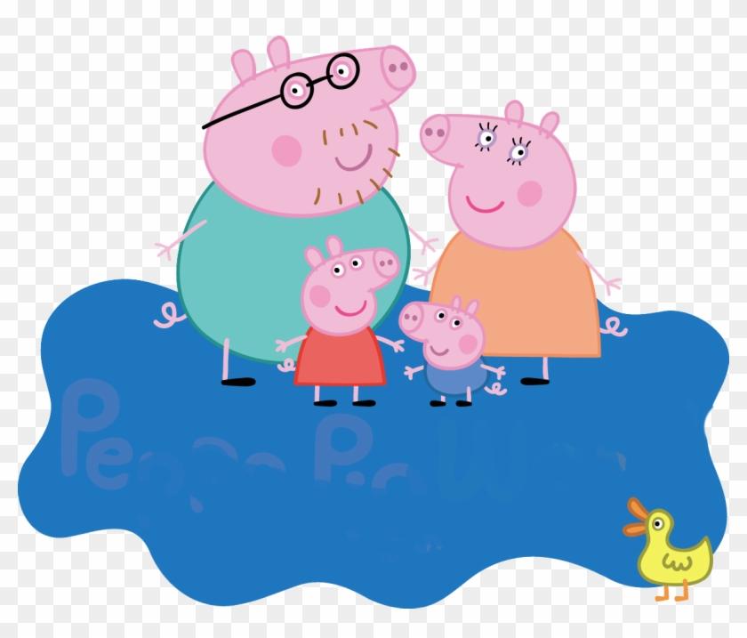 Peppa Familia Logo Peppa Pig Logo Png Clipart 521366 Pikpng