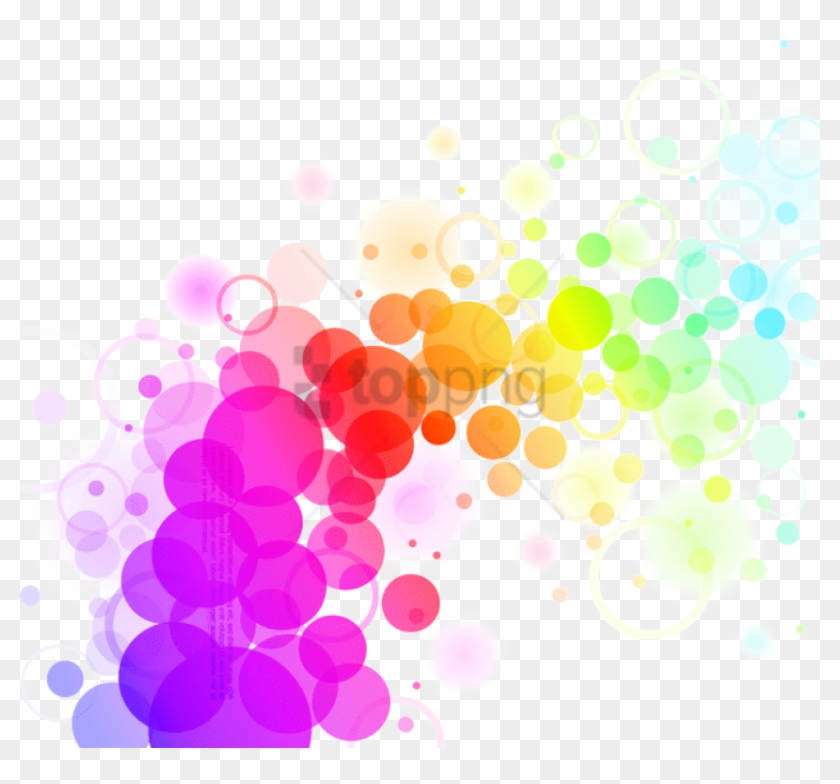 Abstract Colors Png File - Abstract Colorful Dots Background Clipart #524112
