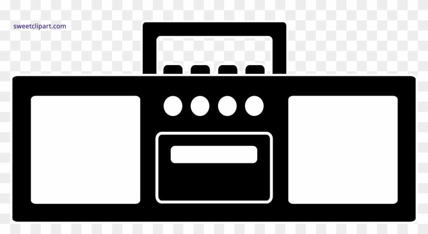 Radio Clipart Tumblr Transparent - Silhouette Radio Clipart - Png Download #526320
