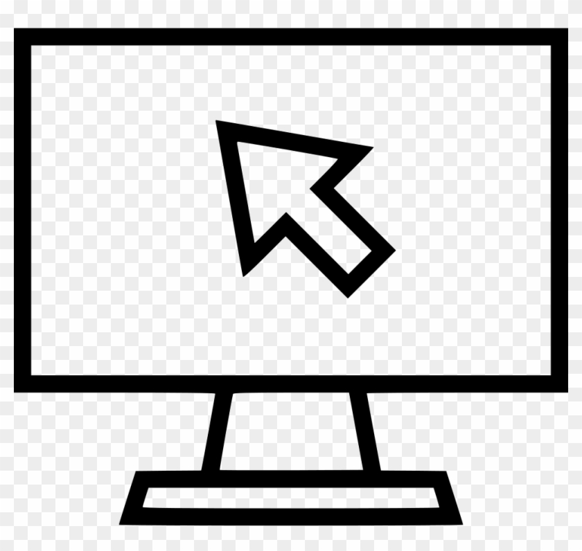 Computer Arrow Icon Png - Pc Click Icon Png Clipart #526685