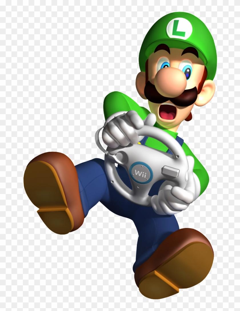 Luigi Mario Kart Wii Mario And Luigi Clipart 527027 Pikpng