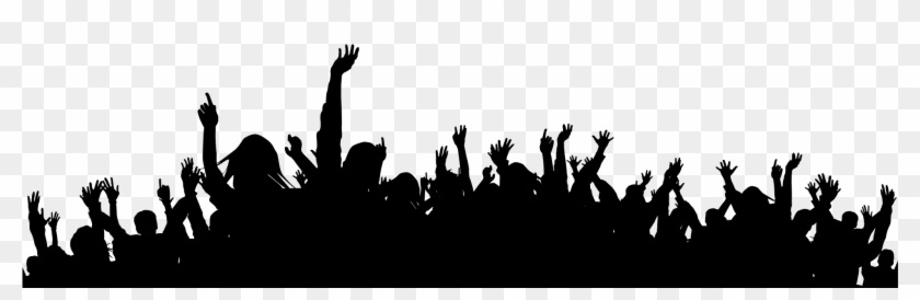 Concert Crowd Black And White Png Clipart@pikpng.com