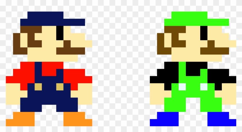 Mario Luigi Mario Bros 8 Bit Mario Drawing Clipart 527444