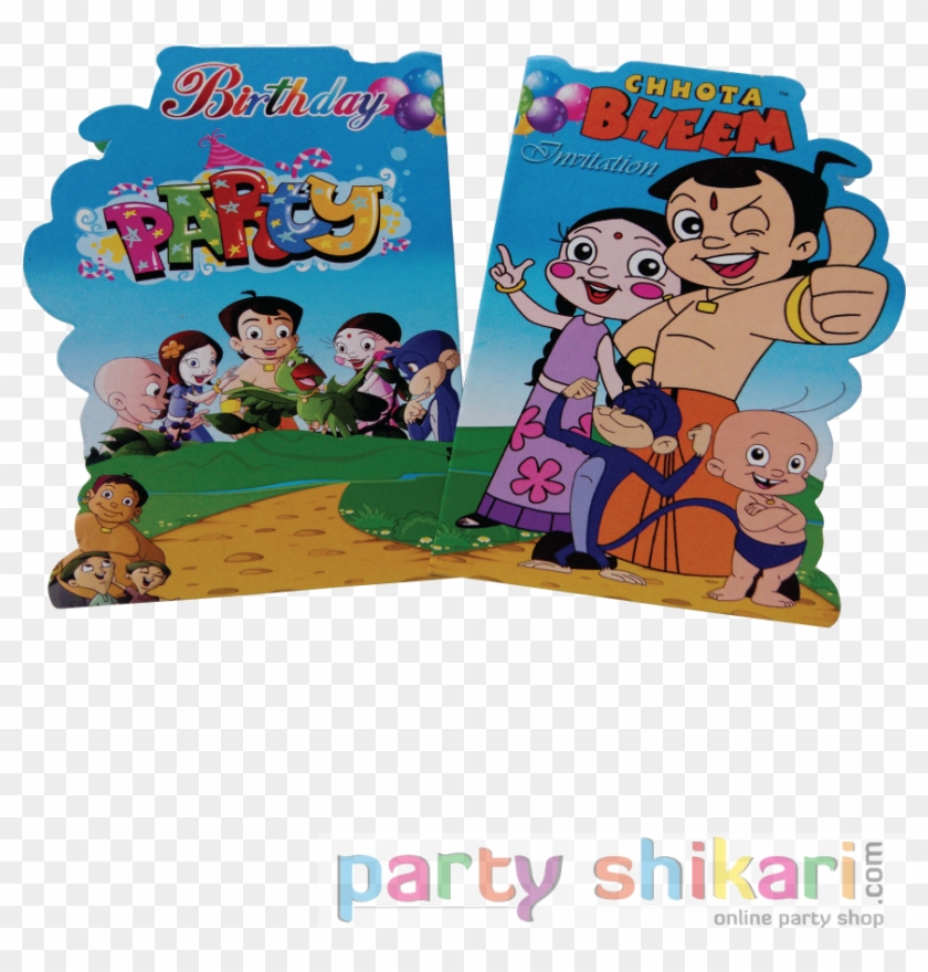 Chota Bheem Theme Birthday Invitation Cards Hd Png Download
