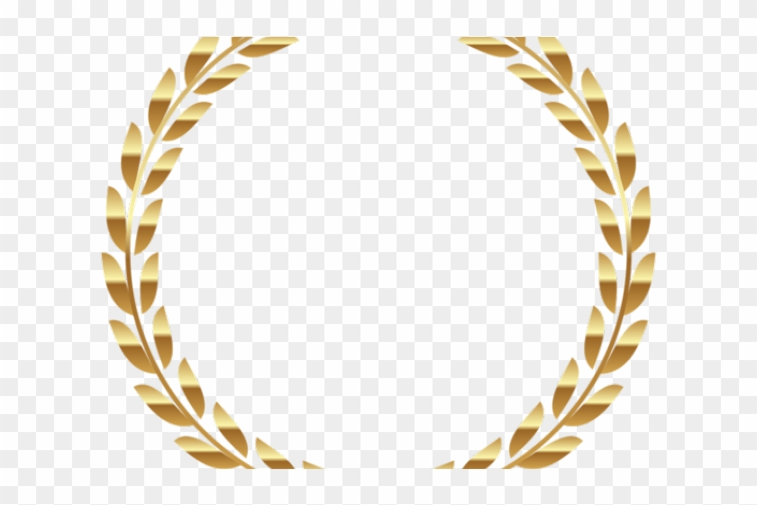 Decorative Line Gold Clipart Png Transparent - Gold Laurel Leaves Png, Png Download #529638