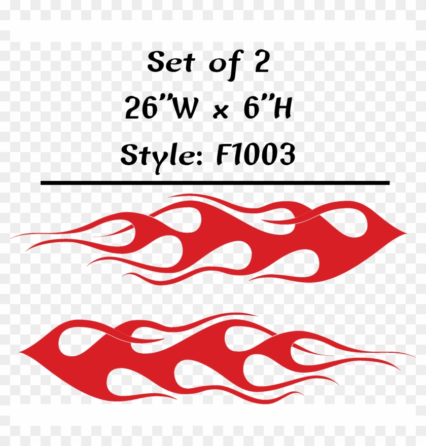 Vehicle Tribal Flames Vinyl Decal Sticker Car Truck - Racing Tribal Flames Png Clipart #5204447