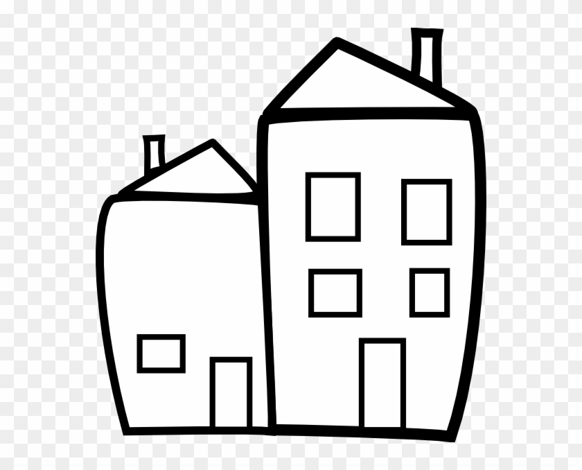 Building Clip Art - Small Building Clipart Black And White - Png Download@pikpng.com