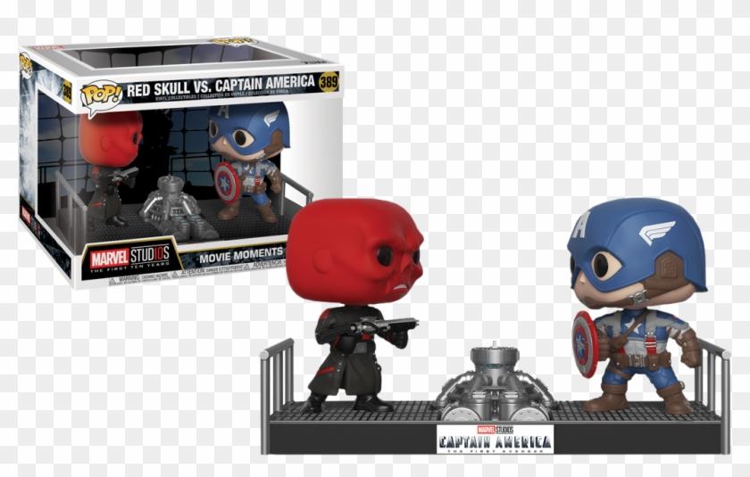 Movie Moments Marvel Captain America Vs - Funko Pop Marvel Movie Moments Clipart #5216046