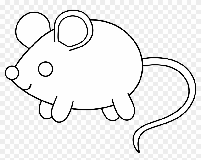 Rodent Clipart - Cute Mouse Coloring Page - Png Download #5218356