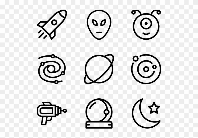 Space - Web Design Line Icon Clipart #5219231