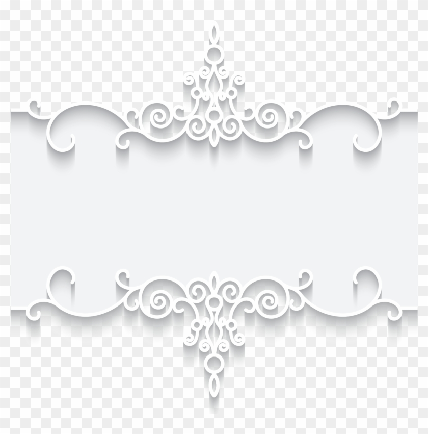 Christmas Picture Frame Png - White Lace Border Pattern Clipart #5231853