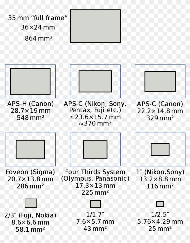 Full-frame Digital Slr - Live Mos Sensor Size Clipart #5232409