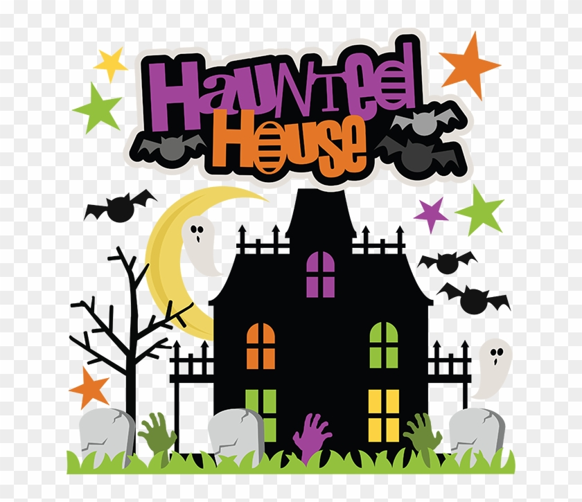 Haunted House Clipart Png - Halloween Houses Clipart Png Transparent Png #5236634