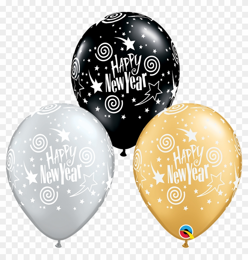 Black And Gold Balloons Png - New Years Eve Balloon Clipart #5244580