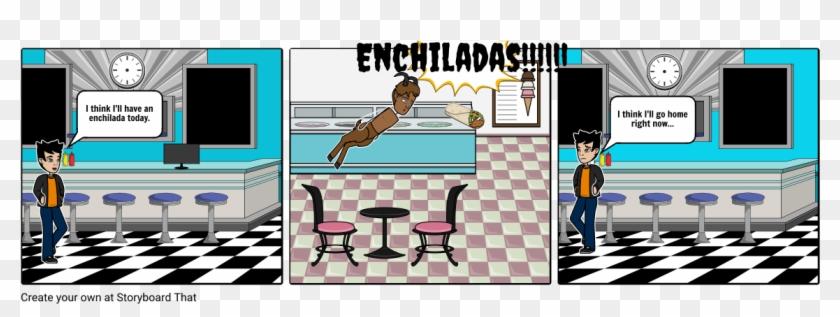 Enchiladas - Candy Shop Interior Retro Design Clipart #5253902