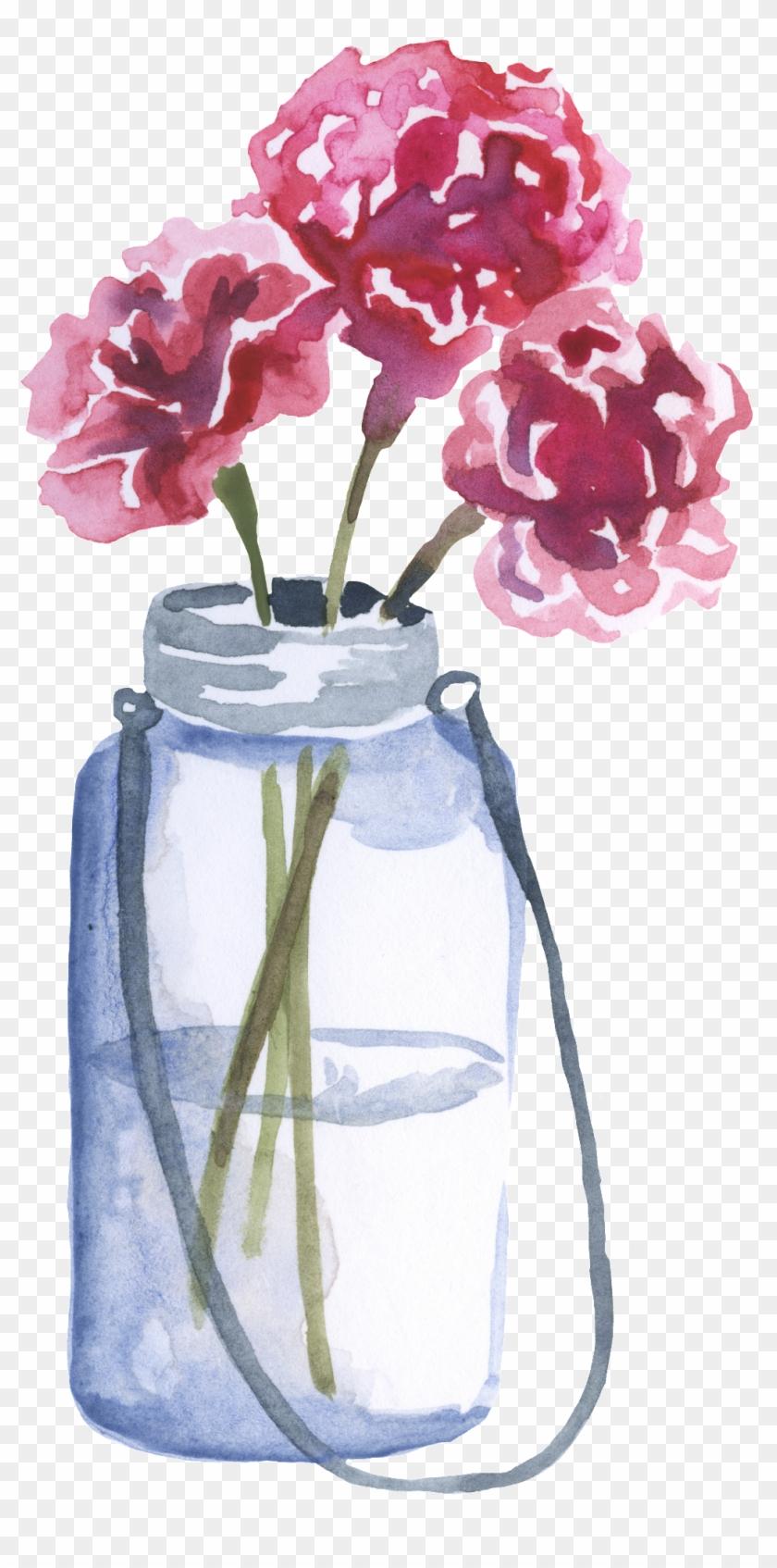 Purple Flower Arrangement Transparent Decorative - Vase Of Flowers Watercolor Clipart #5256753