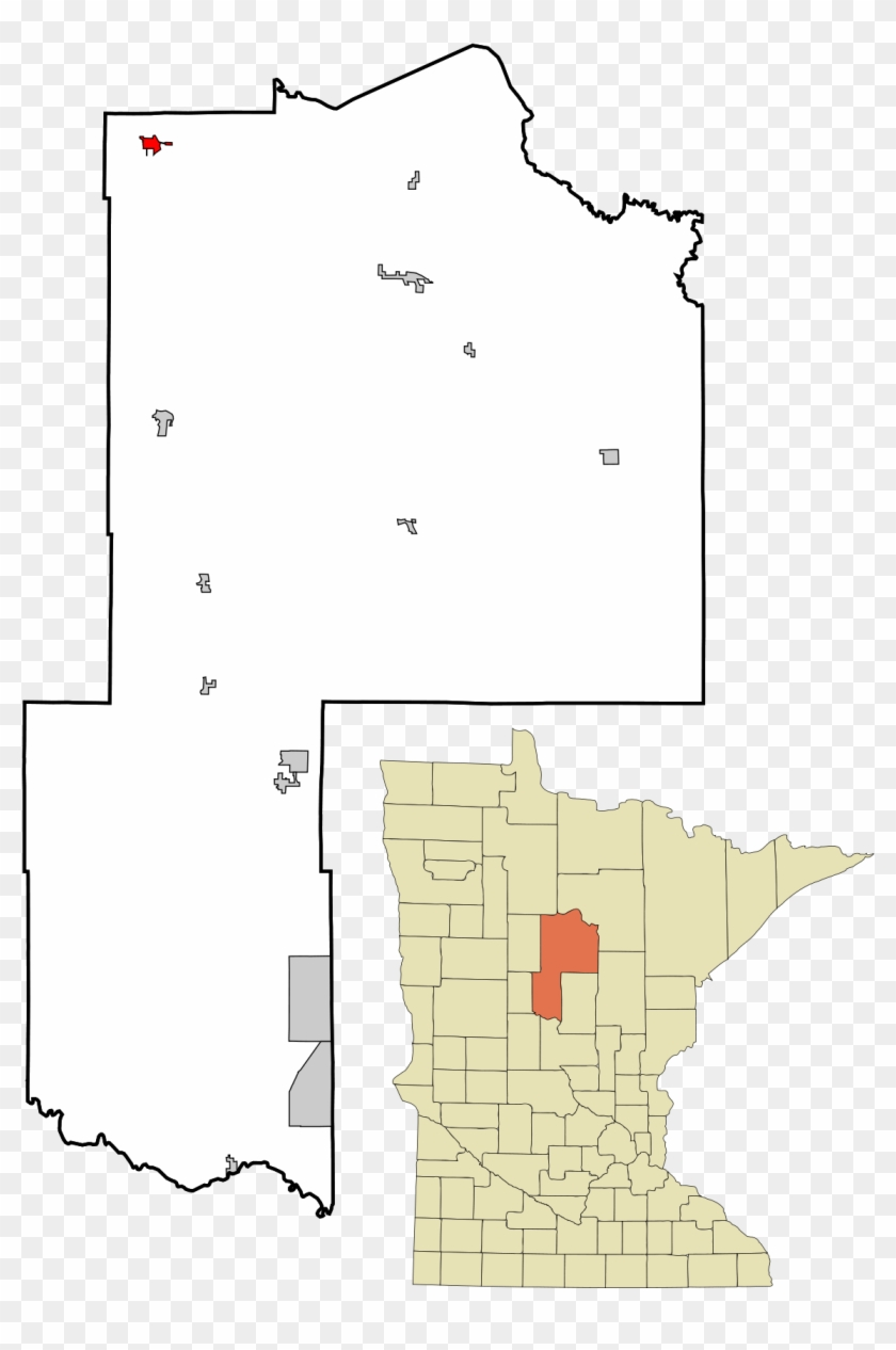 Cass Lake On Map Clipart #5260953