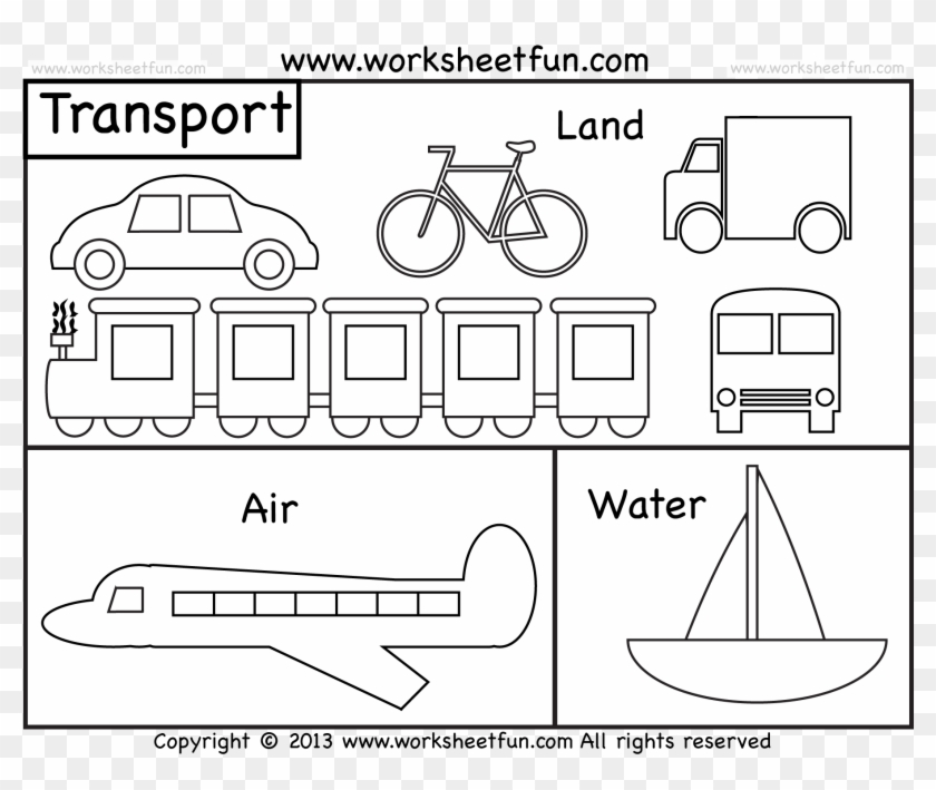 Transportation Coloring Pages 4 Vehicle Printable Cars Types Of Transportation Coloring Pages Clipart 5276866 Pikpng