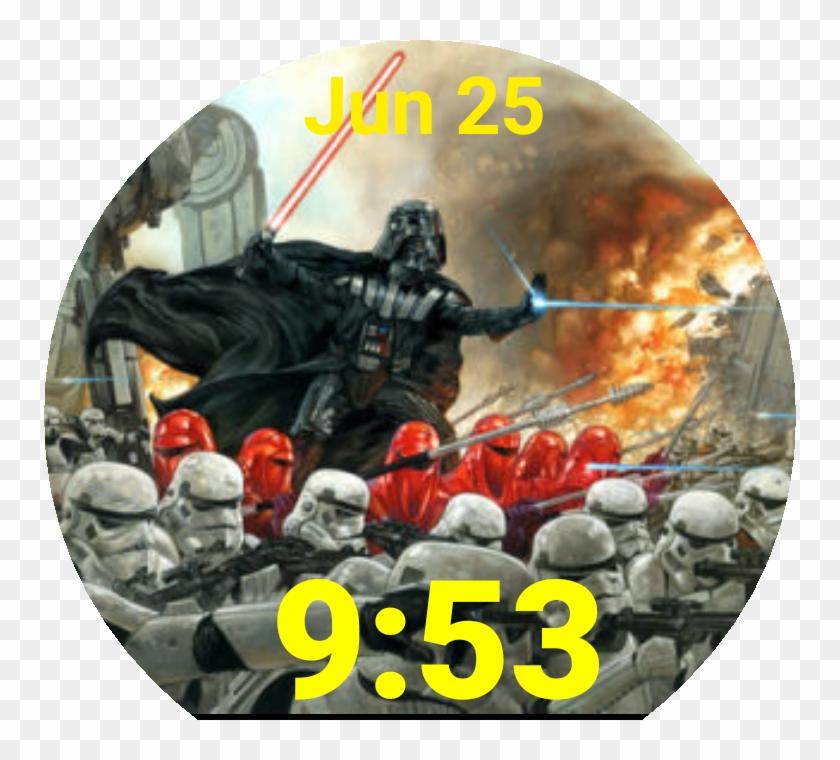 Star Wars Original Artwork Watch Face Preview Clipart #5278386