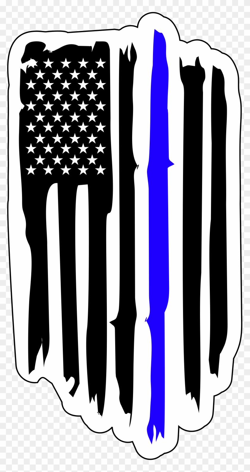 American Flag Police Badge, HD Png Download #5280326