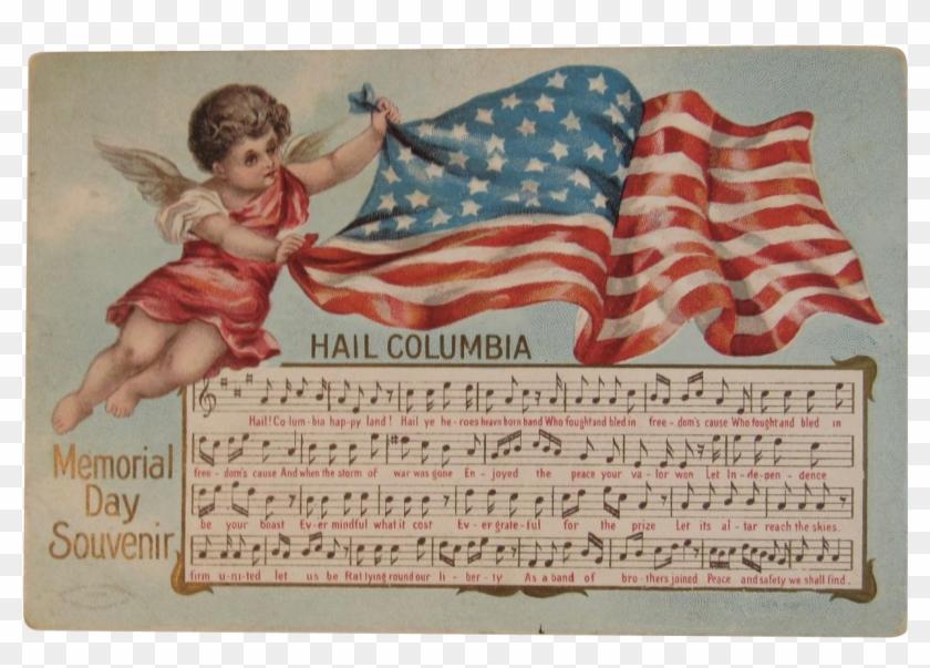 1908 Taggart Hail Columbia Memorial Day Souvenir Postcard - Angel Clipart #5280549
