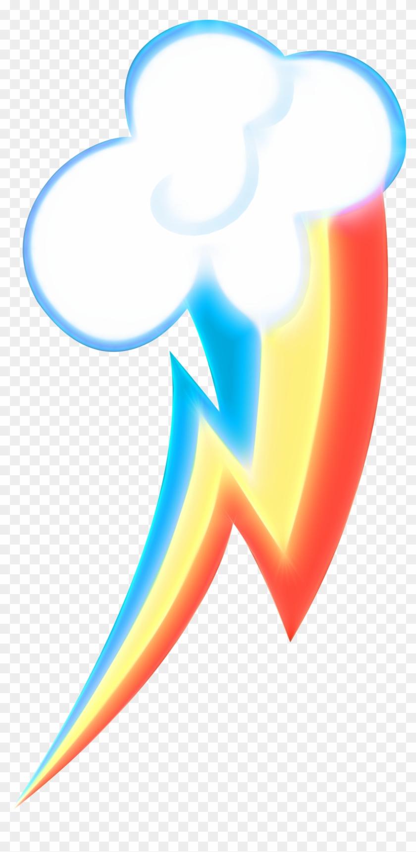 Neon Rainbow Dash S Cutie Mark Clipart 5281474 Pikpng
