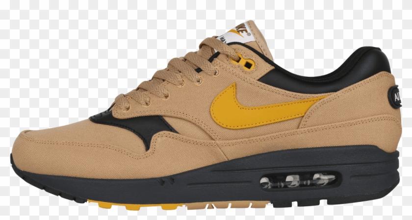 Nike Air Max 1 Premium Elemental Gold / Mineral Yellow - Basketball Shoe Clipart #5288688
