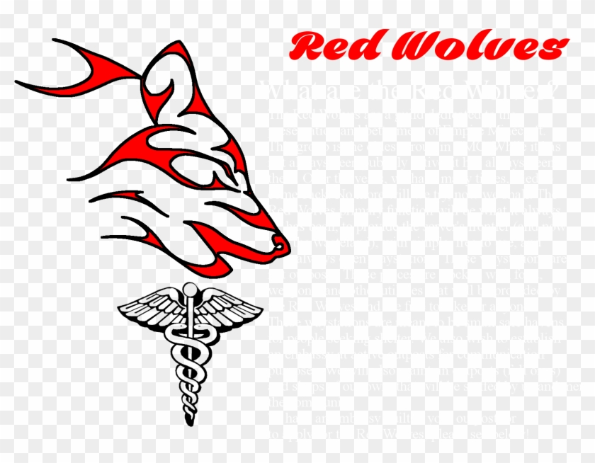 Red Wolves Creed - Medical Symbol Clipart #5291444