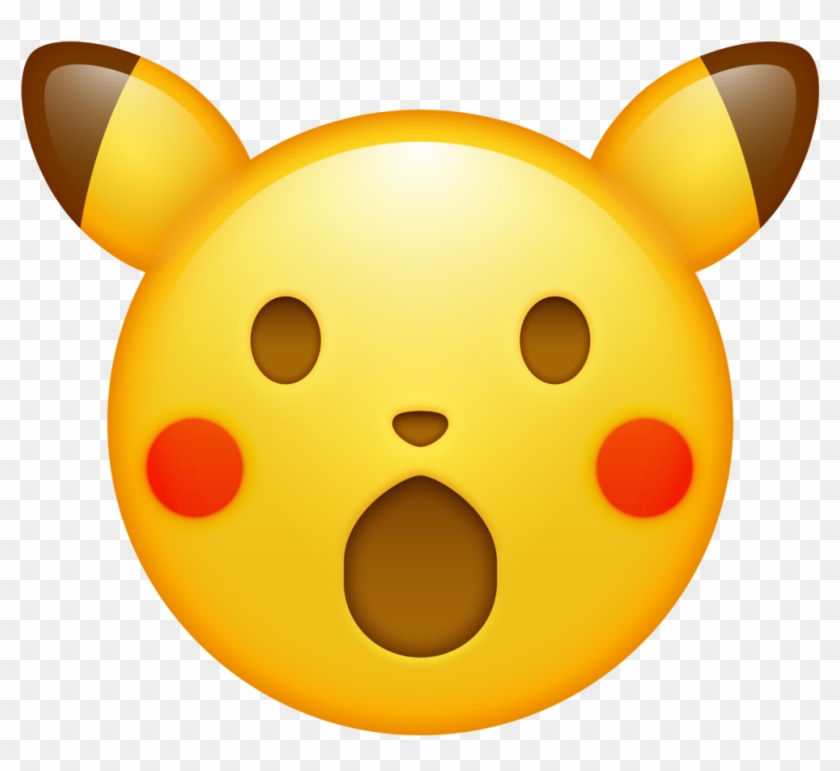 Trinket Geek Here S A High Res Surprised Pikachu Emoji Pikachu