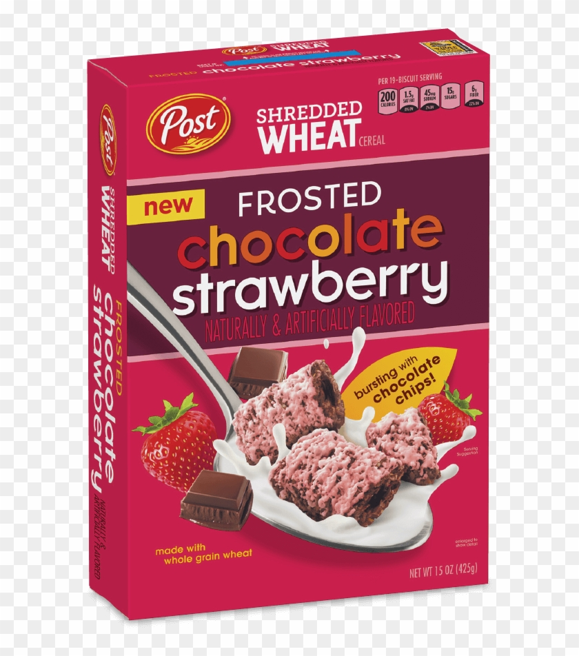 Post Shredded Wheat Frosted Chocolate Strawberry Cereal - Post Shredded Wheat Dark Chocolate Clipart #532016