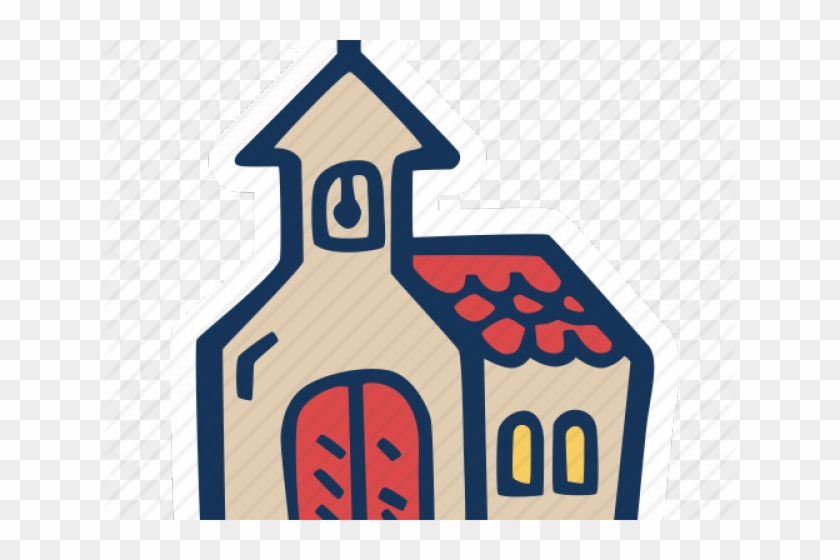 Drawn Church House Icon - Stop Sign Clipart #532493