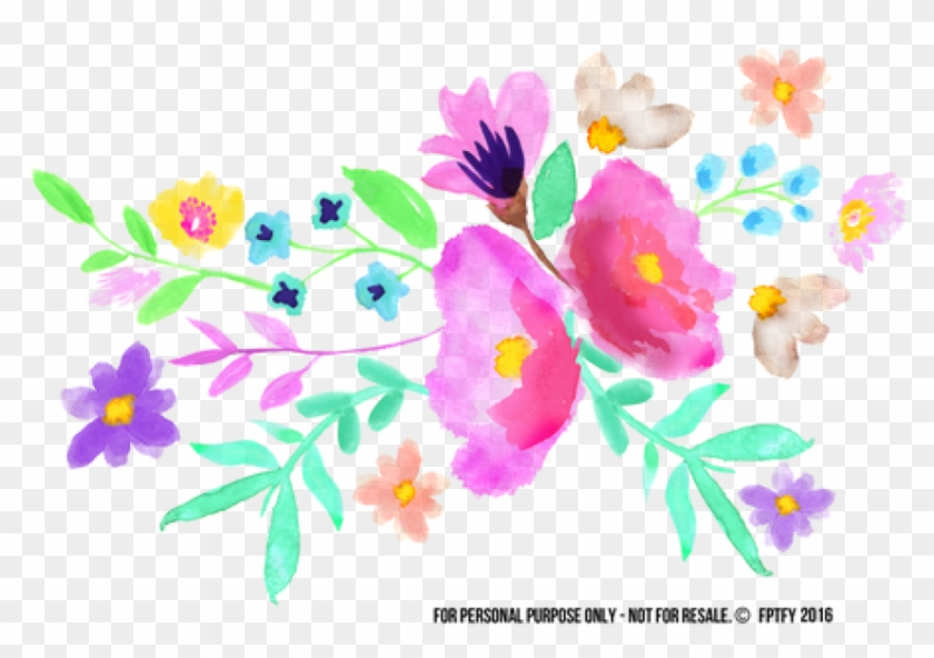 Free Png Download Spring Watercolor Flowers Png Images - Spring Watercolor Flowers Clipart Transparent Png #535458