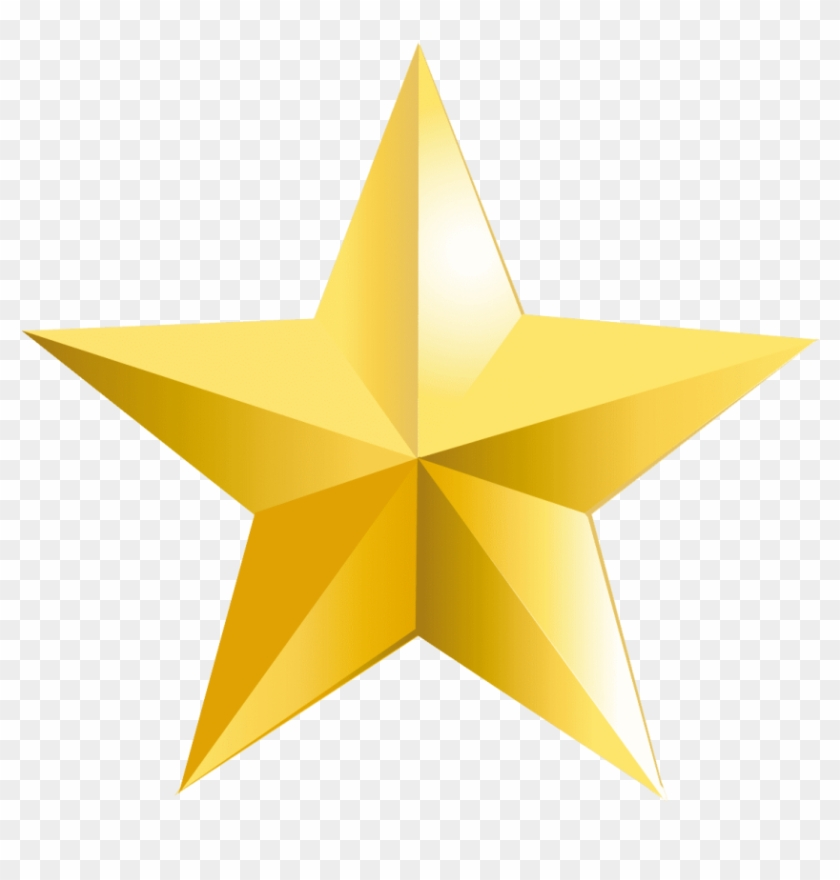 Gold Star Png Png - Transparent Background Star Png Clipart #535983