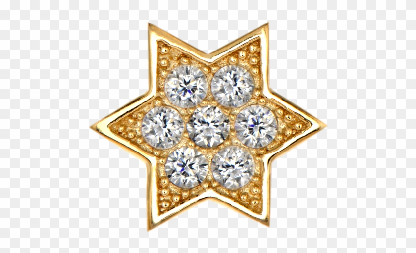Gold Star With Dimond Png - Diamond Clipart #537288