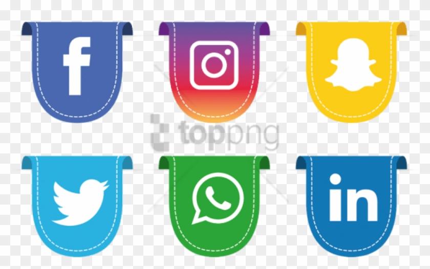 Free Png Social Media Icons Set, Social, Media, Icon - Social Media Logo Transparent Background Clipart #5305387