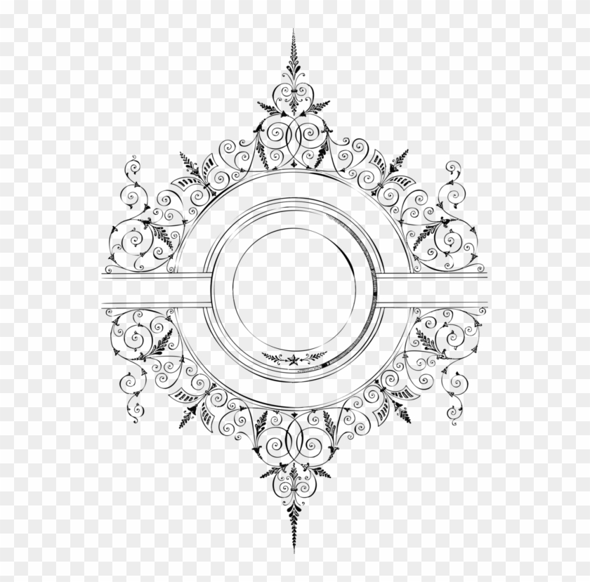 Lace Decorative Arts Ornament Borders And Frames Picture - Ornament Vintage Border Png Clipart #5305691