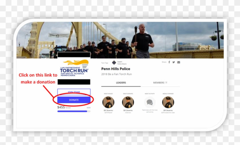 If You Are Interested Donating To Support The Phpd - Law Enforcement Torch Run Clipart #5306840
