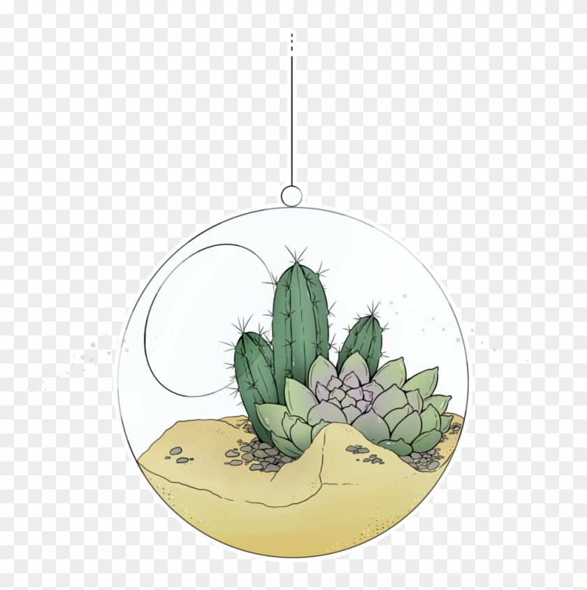 Quick Drawing Of My Cactus Kevin If He Where In A Globe, - Ceramic Clipart #5317637