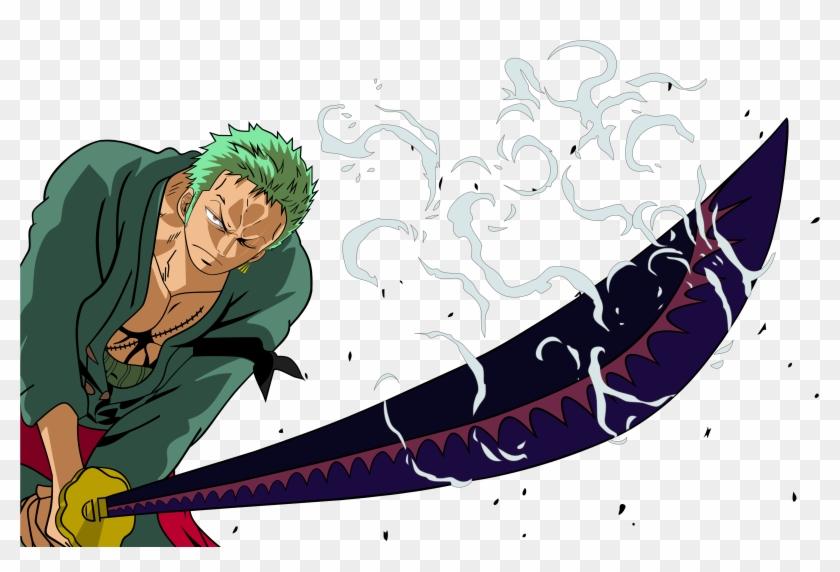 One Piece Hd Wallpaper Roronoa Zoro Hd Png Download