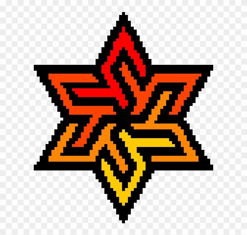 Perler Beads Patterns On A Star Rainbow Star Pixel Art